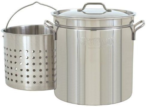 Bayou Classic 1124 24-Quart All Purpose Stainless Steel Stockpot