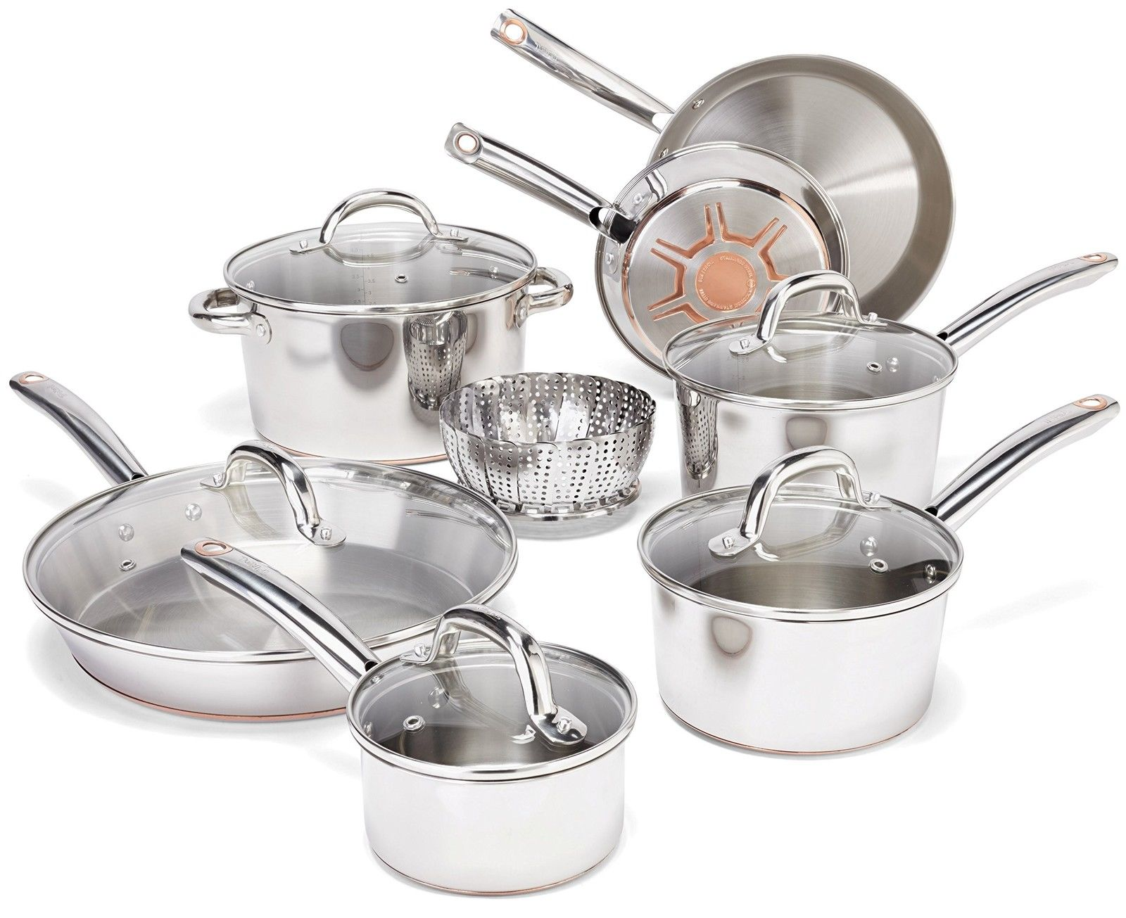 T Fal C836sc Ultimate Stainless Steel Copper Bottom Cookware Set