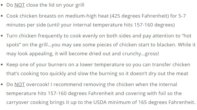 How to cook the chicken on your gas grill
