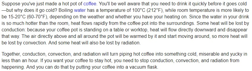 Why your coffee goes cold