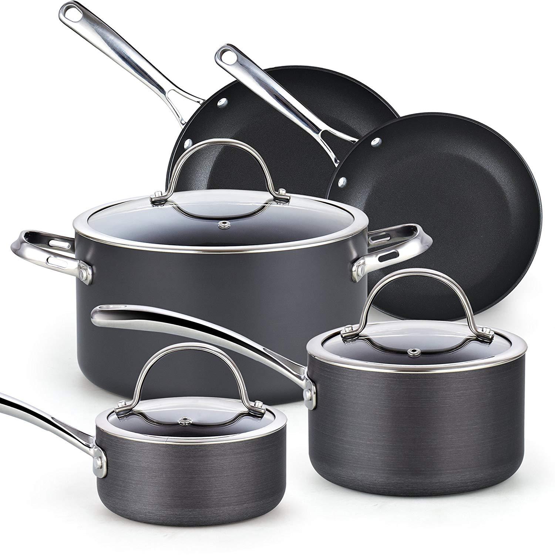 Cooks Standard 02487 8-Piece Nonstick Hard Anodized Cookware Set