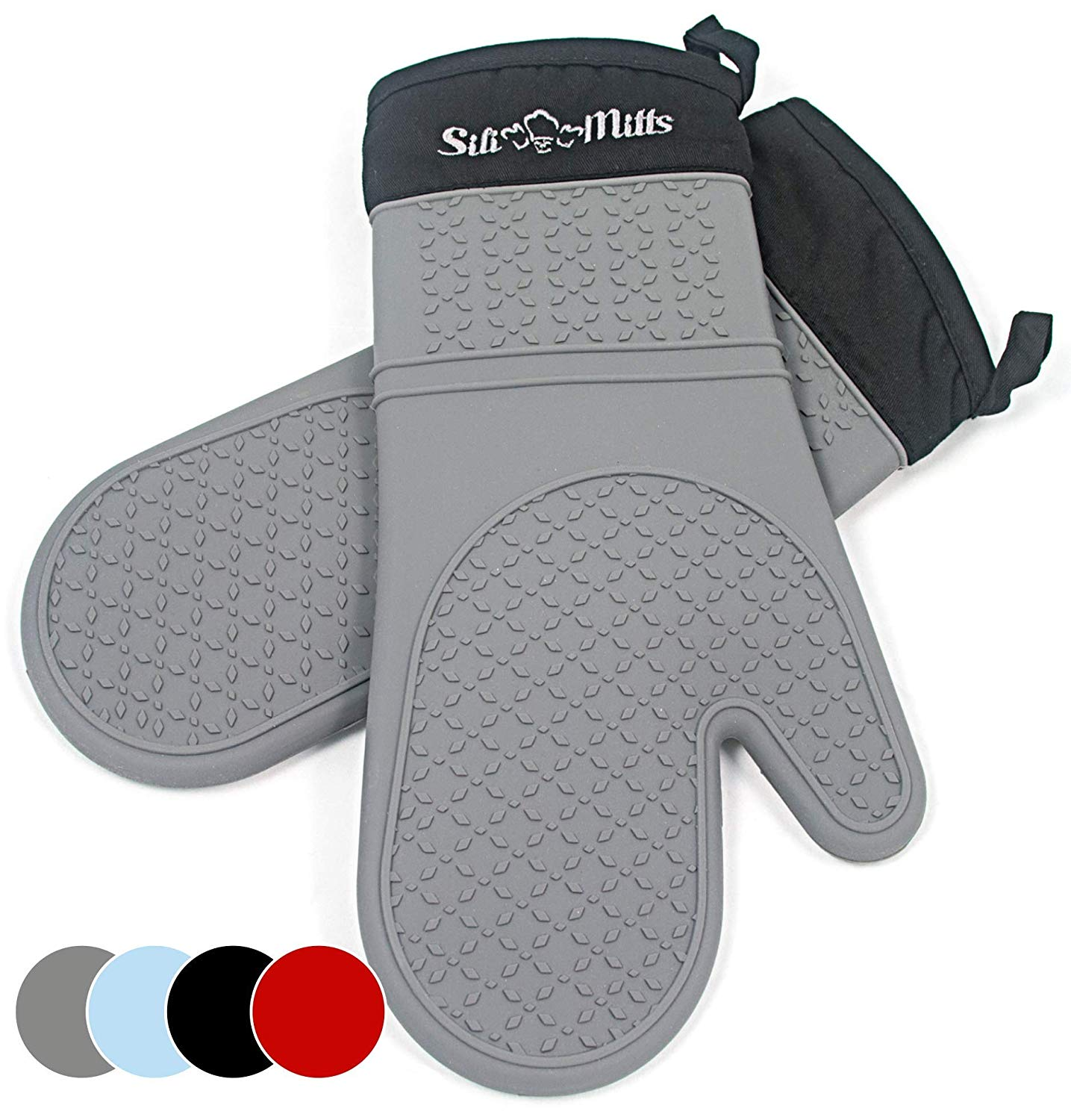 Frux Home and Yard Grey Silicone Oven Hot Mitts