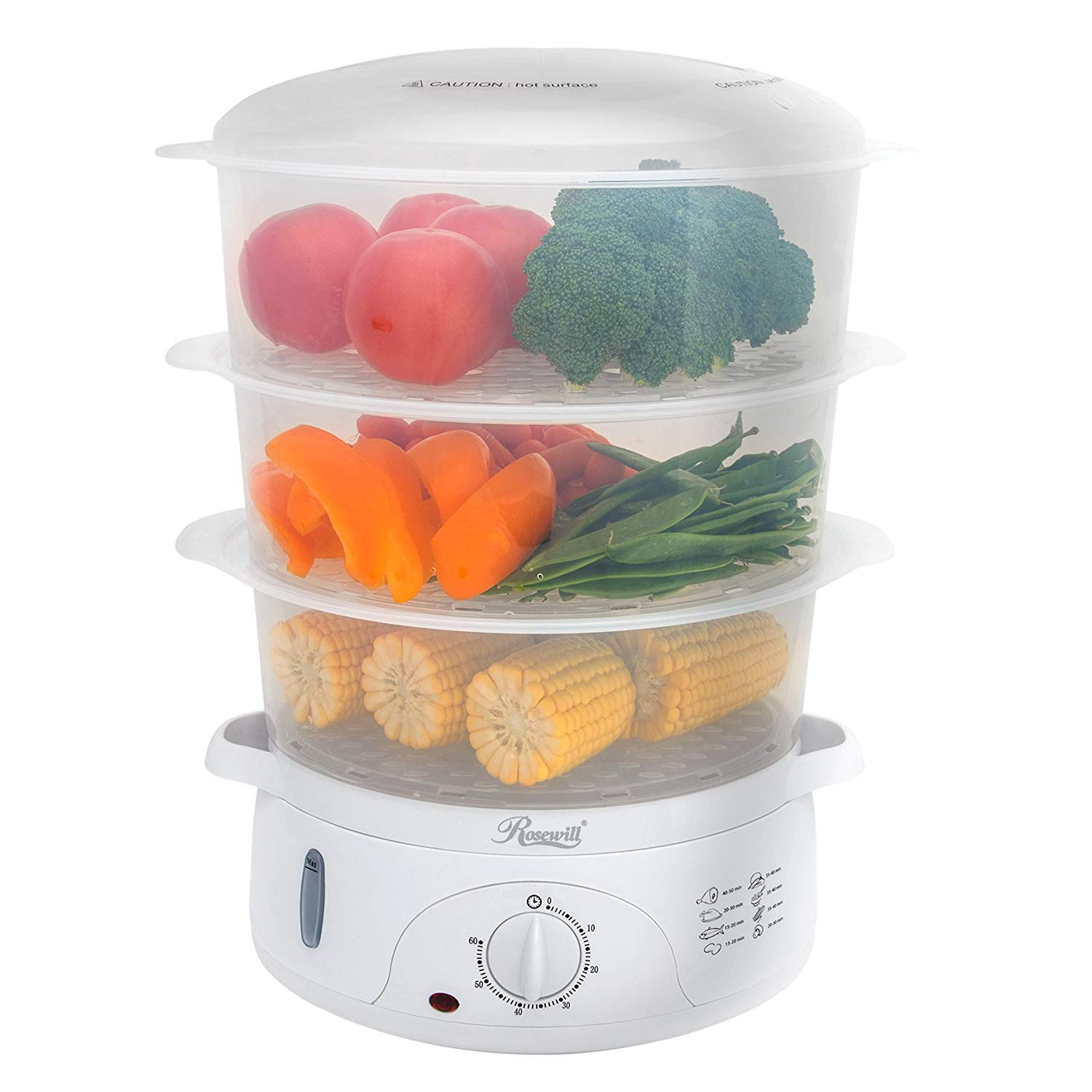 Rosewill Electric Food Steamer 9.5 Quart Vegetable Steamer