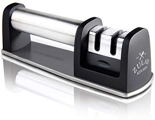 Zulay Kitchen Manual Stainless Steel Knife Sharpener