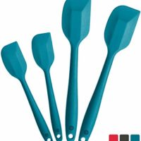Silicone Spatula Set (2 Small, 2 Large), High Heat Resistant