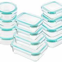 Bayco Glass Food Storage Containers with Lids, [24 Piece] Glass Meal Prep Containers, Airtight Glass Bento Boxes, BPA-Free