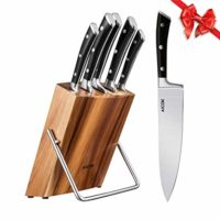 Kitchen Knife Set, Professional 6-Piece Knife Set with Wooden Block