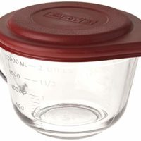 Batter Bowl,2qt W/Pl.Lid,Glass