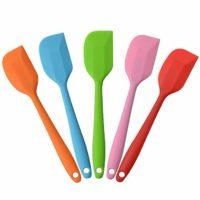 Silicone Spatula Heat Resistant Non-Stick Flexible Set of 5 (Random Color)