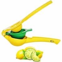 Teja's Lemon Lime Squeezer Premium Quality Metal Citrus Manual Press Juicer Squeeze for Lemon and Lime Dishwasher Safe