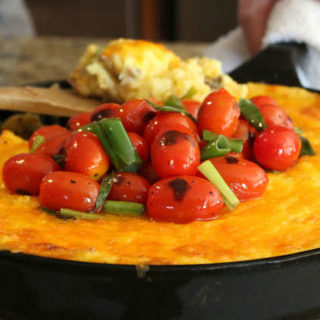 Sausage and Grits Breakfast Skillet Bake