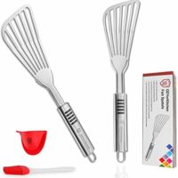 Fish Spatula - Stainless Steel  - Set of 2