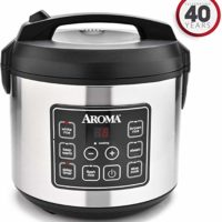 Aroma Housewares 20 Cup Cooked (10 cup uncooked) Digital Rice Cooker, Slow Cooker, Food Steamer