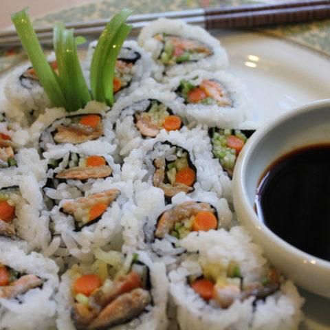 Salmon Skin Rolls Recipe