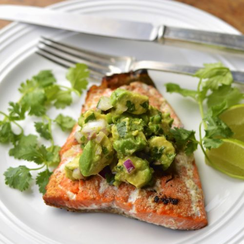 roasted salmon avocado lime sauce