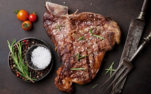 Cooked T-Bone Steak